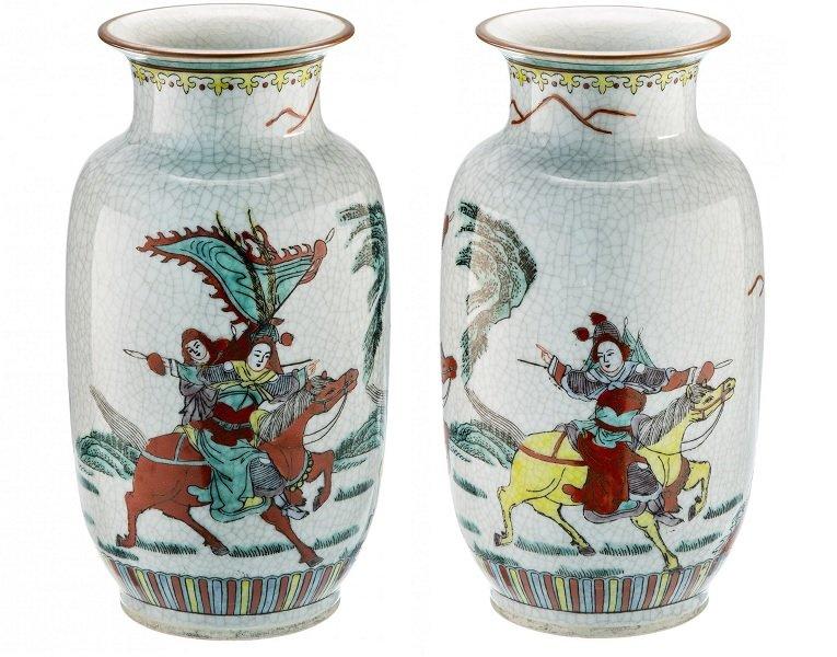 Китайская декоративная ваза (1970-1980-е)