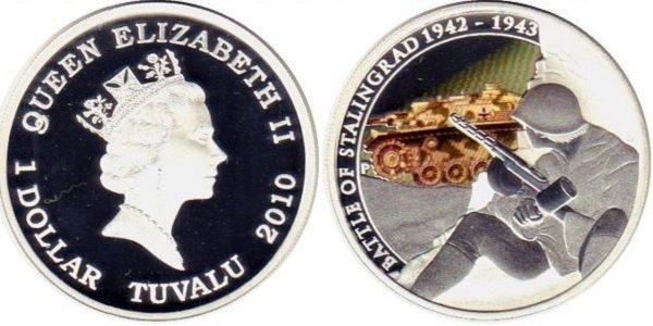 Тувалу 1 доллар 2010 года. Серебро. 31,1 г