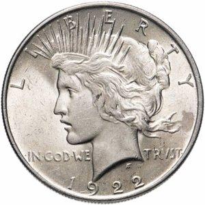 Аверс мирного доллара 1922 года