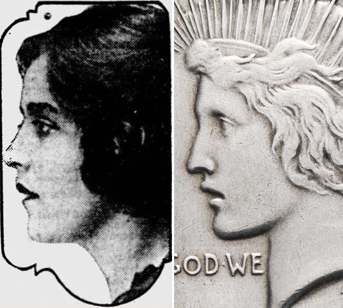 Портрет Терезы де Франчиски в сравнении с долларом