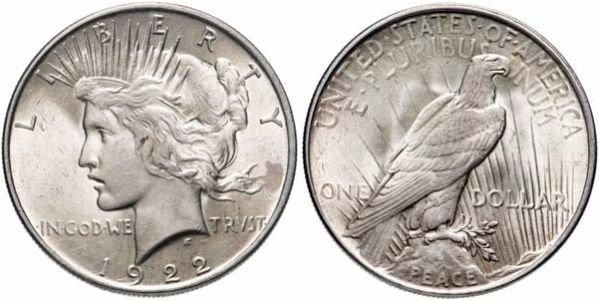Мирный доллар США, 1922 год
