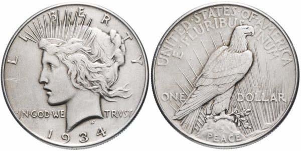 Мирный доллар США, 1934 год