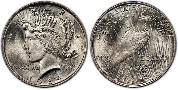Мирный доллар США, 1964 год