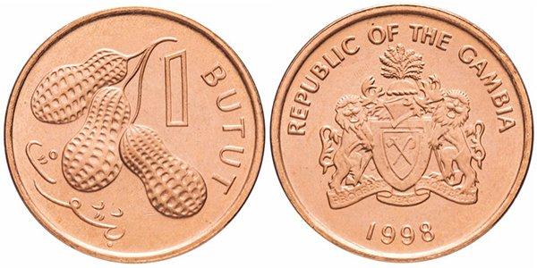 Гамбия. 1 бутут (butut) 1998 года