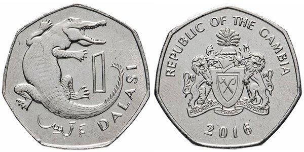 Гамбия. 1 даласи (dalasi) 2016 года