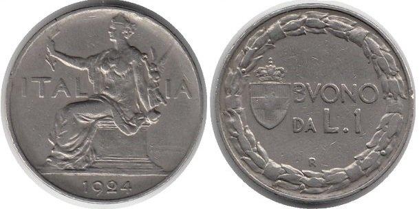 1 лира 1924 г.