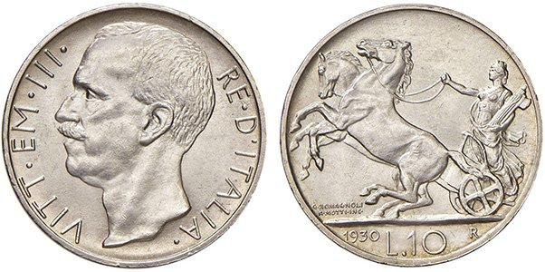 10 лир 1926-1930 гг.