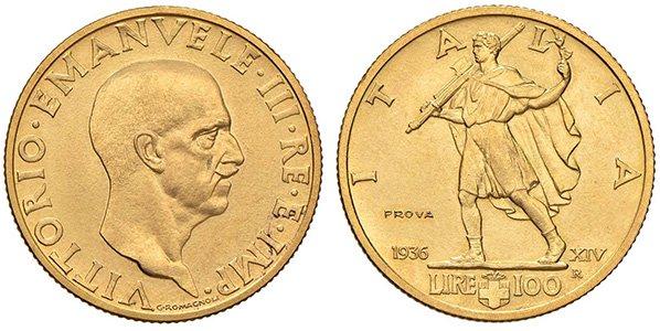 100 лир 1936 г.