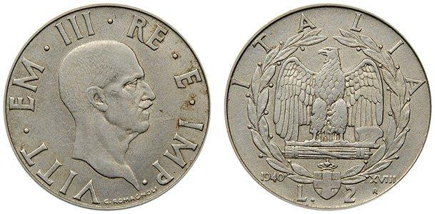 2 лиры 1939-1940 гг.