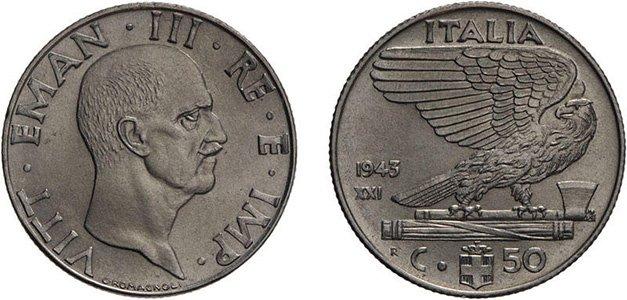50 чентезимо 1943 г.