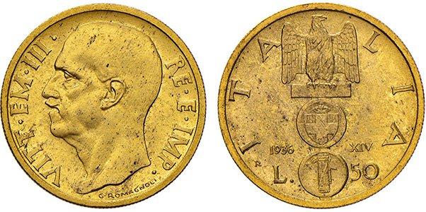 50 лир 1936 г.