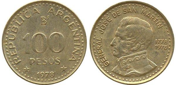 100 песо 1978 г.