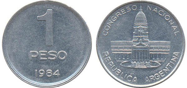 1 песо 1984 г.
