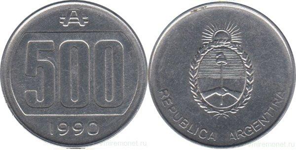 500 аустралей 1990 г.