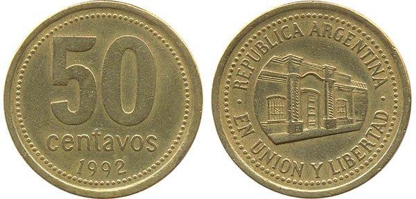 50 сентаво 1992 г.