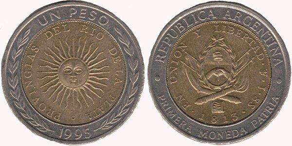 1 песо 1995 г.