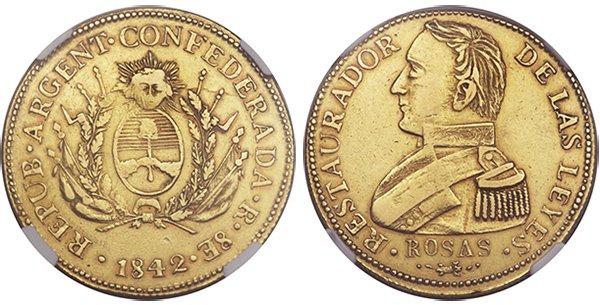 8 эскудо 1842 г.