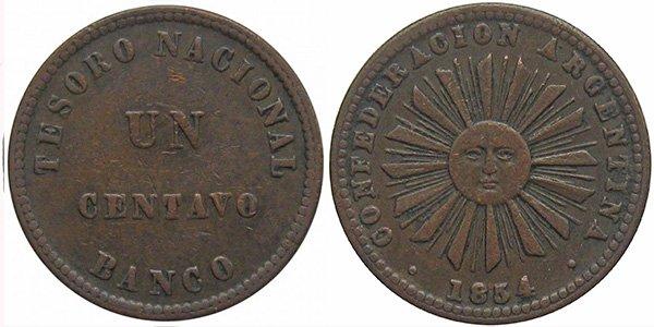 1 сентаво 1854 г.