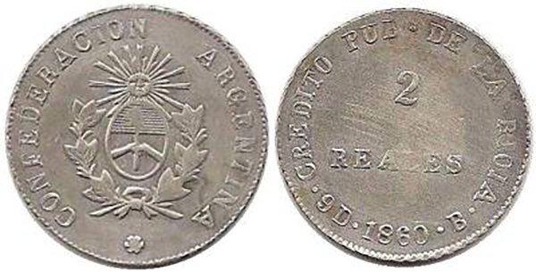 2 реала 1860 г.