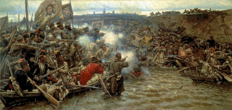 Покорение Сибири Ермаком  (В.И. Суриков)