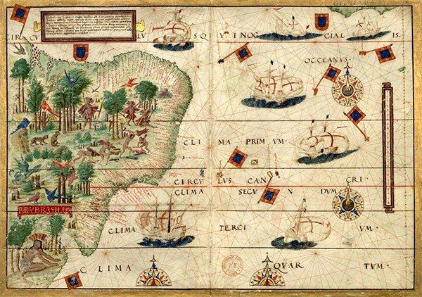 Карта Бразилии 16 в.