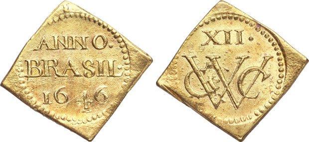 12 голландских золотых флоринов 1646 г.