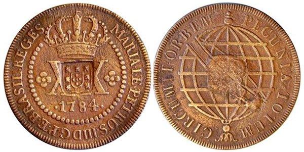 40 реалов 1804 года, надчекан на 20 реалах 1784 года