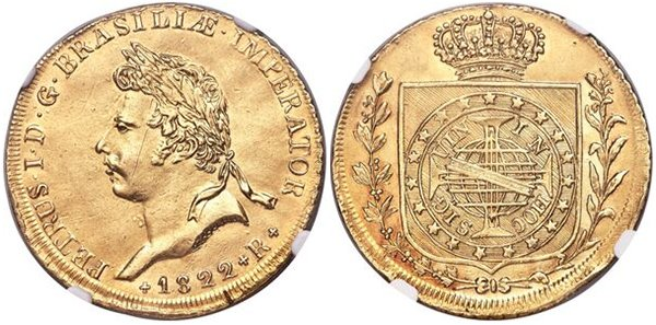 6400 реалов (коронация Педру I) 1822 г.