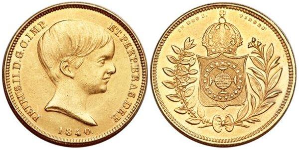 10000 реалов 1840 г. Педру II