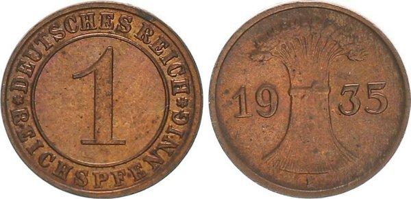 1 пфенниг 1935 год