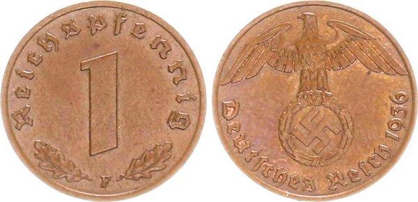 1 пфенниг 1936 год