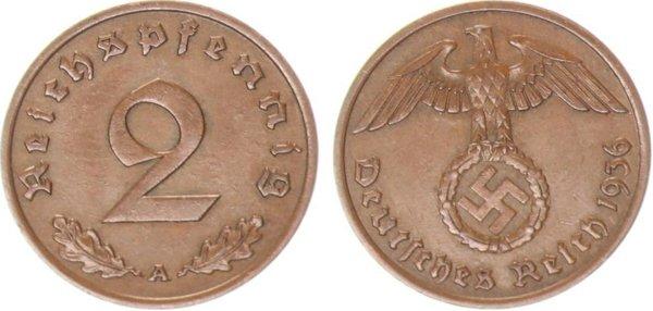 2 пфеннига 1936 год