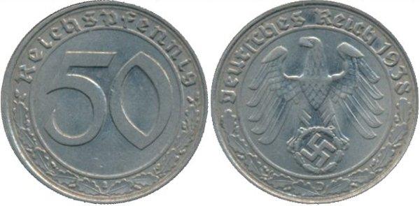 50 пфеннигов 1938 год