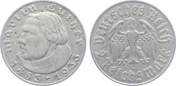 2 марки в честь 450-летия со дня рождения Мартина Лютера