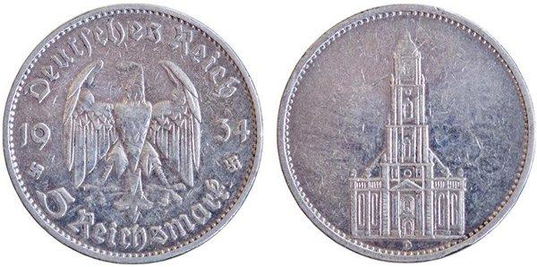 5 марок в честь годовщины прихода к власти Адольфа Гитлера (без указания даты)
