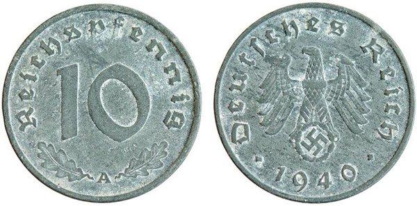 10 пфеннигов 1940 год
