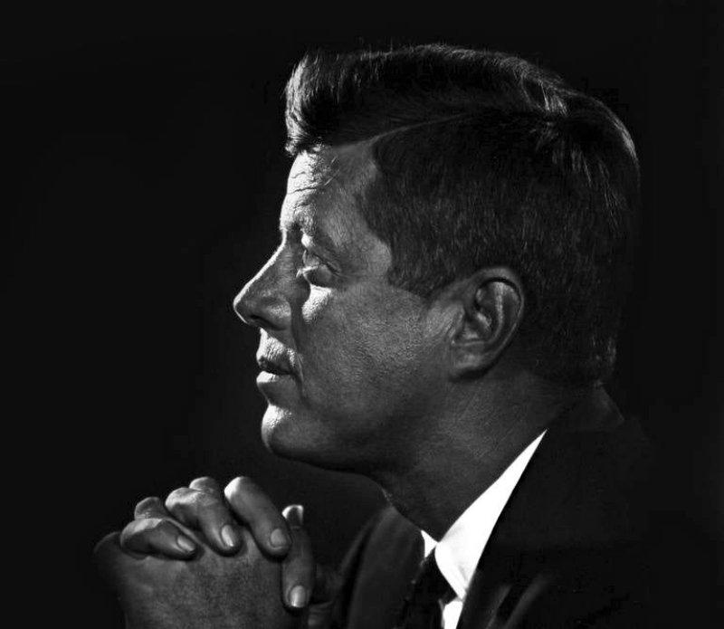 Фото Джона Ф. Кеннеди работы Юсуфа Карша, 1960 год