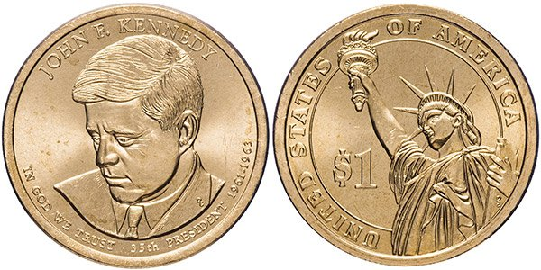 1 доллар «35-й президент США Джон Кеннеди», 2015 год