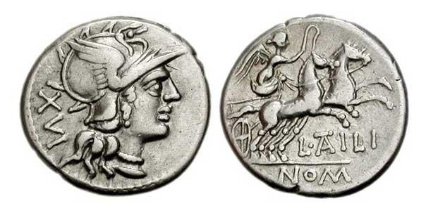 Денарий (середина II века до н.э.)