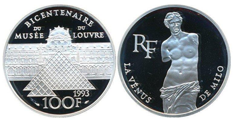 100 франков 1993 года «Венера Милосская», Франция
