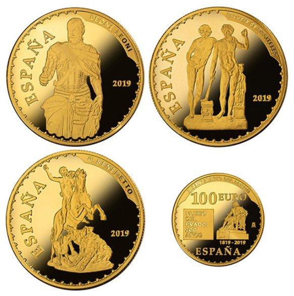 Монеты 100 евро 2019 года «200 лет музею Прадо», Испания