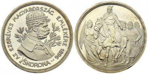 5 корон, 1000 лет Венгрии