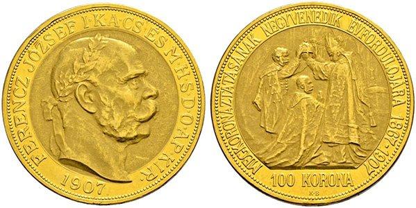100 крон, юбилей коронации