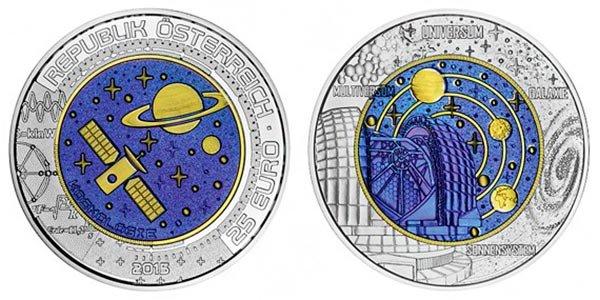 25 евро «Космология», Австрия, 2015 год