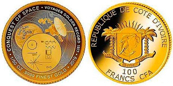 100 франков «Вояджер-1», Кот-д'Ивуар, 2019 год