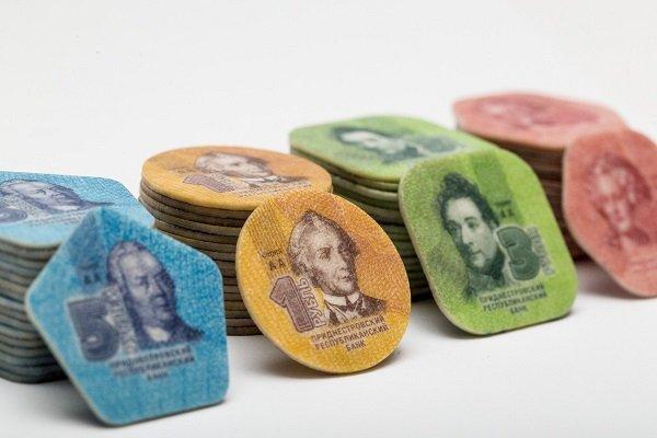 Монеты из композитных материалов. Приднестровье. 2014 год