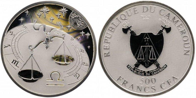 """500 франков Камеруна """"Весы"""""""