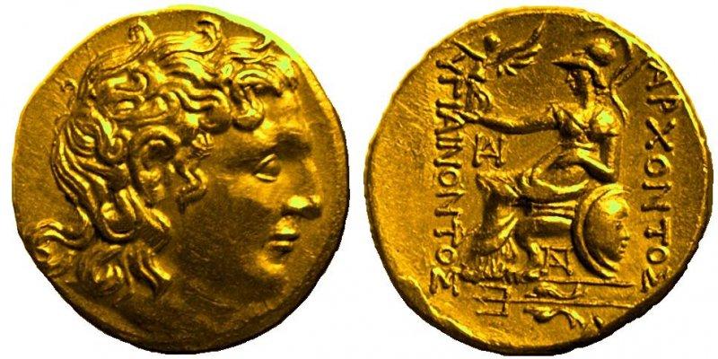 Статер из Пантикапея (215-205 гг до н.э.)