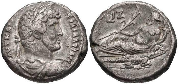 Тетрадрахма Адриана (132-133 гг. н.э.)