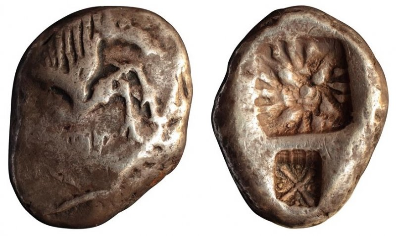 Статер из Карии (конец VI века до н.э.)